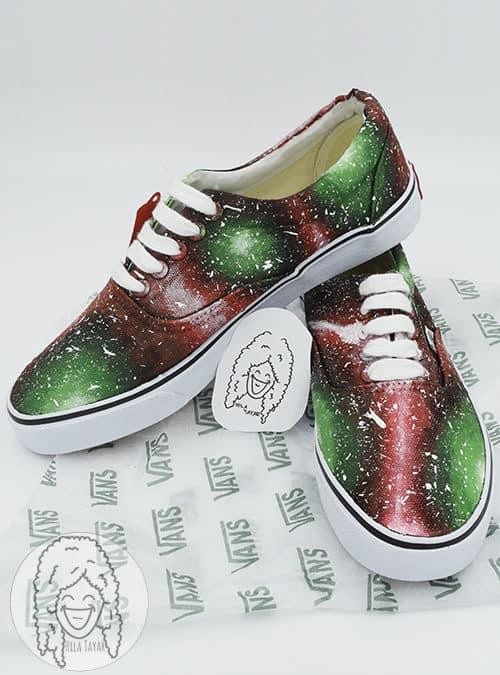 נעליים בעיצוב גלקסיה אבטיח