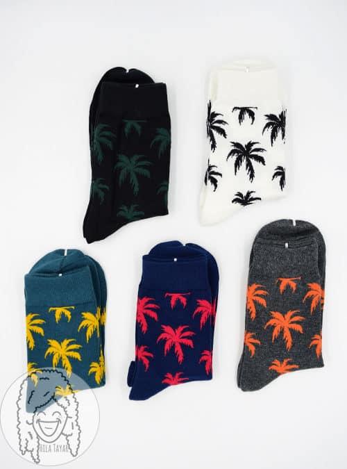 גרביים צבעונים- גרבי דקל