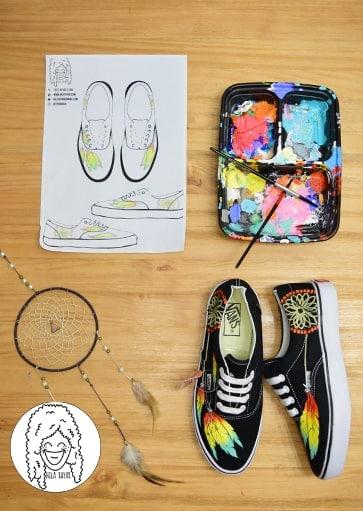 נעלי לוכד חלומות בעיצוב אישי