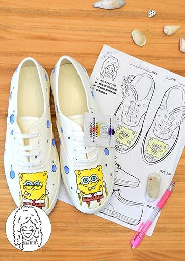 נעליים בעיצוב אישי נעלי בוב ספוג