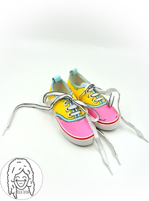 נעלי קומיקס לילדות הילה טייר